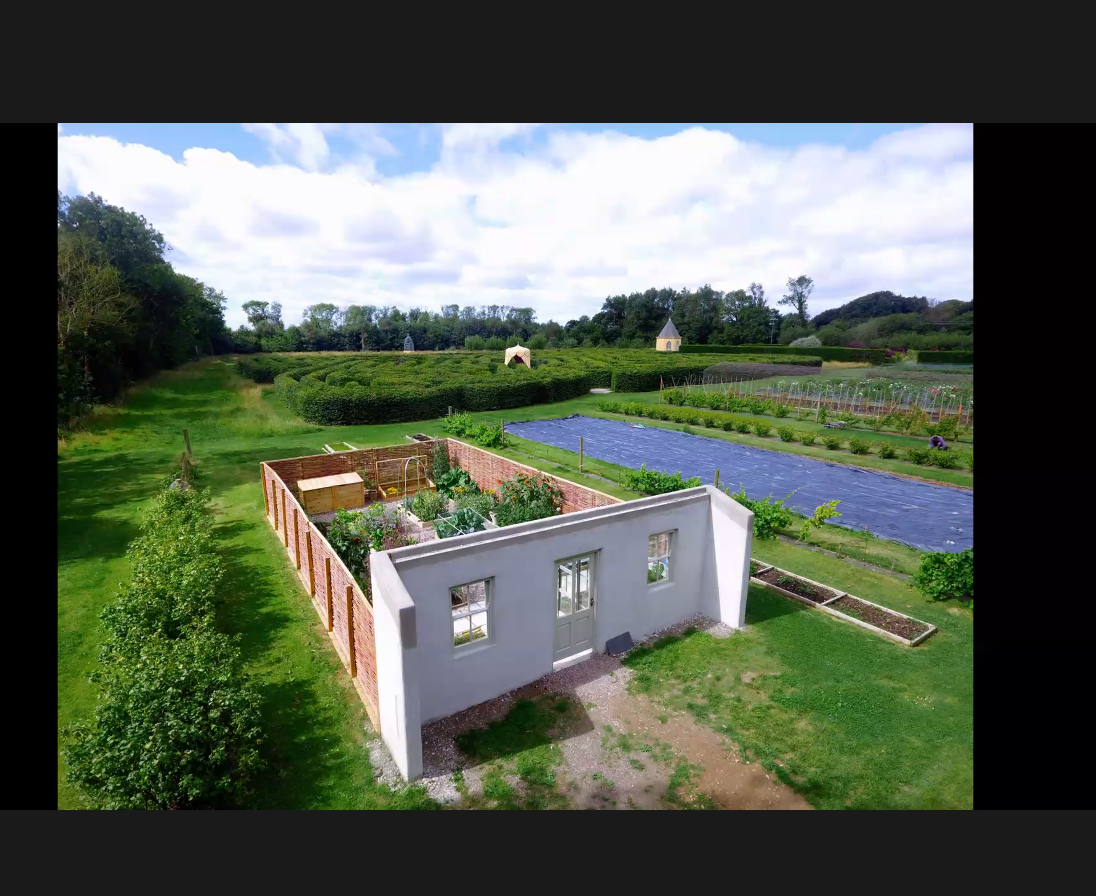 A screenshot from the web event: Model suburban garden in Ballymaloe.